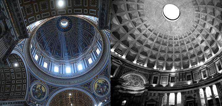 dome vatican vs pantheon